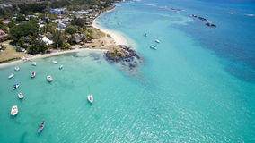 Aerial View: Pointe aux Roches Stock Photo