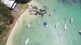 Aerial View: Pointe aux Roches stock footage