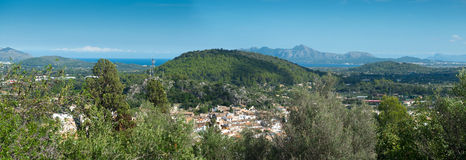 Aerial view on the Pollenca Royalty Free Stock Photo