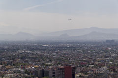 Aerial view of polluted mexico city Royalty Free Stock Photo