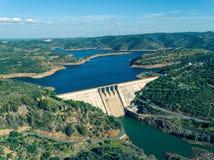 Aerial View of Pomarao Dam Stock Image