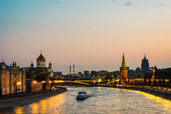 Aerial view of popular landmark Kremlin in Moscow, Russia Stock Photography