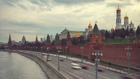 Aerial view of popular landmark - Kremlin, Moscow Royalty Free Stock Images