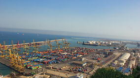 Aerial view of the port for containers from Barcelona Spain Stock Photo