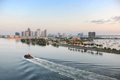 Aerial View of Port of Miami Stock Photography