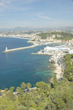 Aerial View of Port at Nice, France Royalty Free Stock Photography