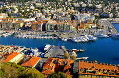 Aerial View on Port of Nice, France Stock Image