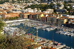 Aerial View on Port of Nice, France Stock Images