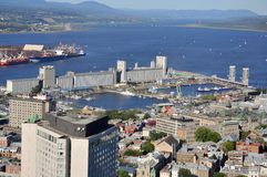 Port of Quebec, downtown Quebec City, Canada Royalty Free Stock Images