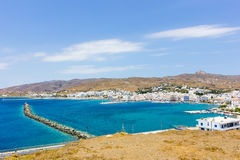 Aerial view of port in Tinos Island,Greece Royalty Free Stock Images