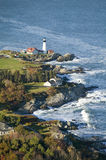 Aerial view of Portland Head Lighthouse, Cape Elizabeth, Maine Stock Photography