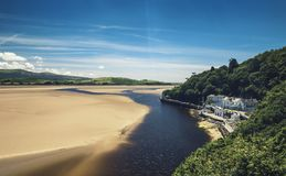Aerial View of Portmeirion Town royalty free stock images