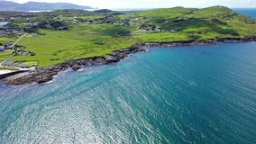 Aerial view of Portnoo in County Donegal, Ireland stock video