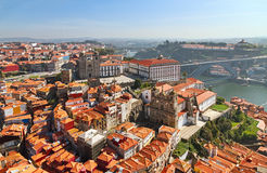 Aerial view of Porto at day. Stock Photo
