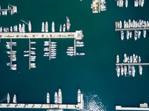 Aerial view of Porto Montenegro. Tivat city. Stock Photos