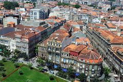 Aerial view of Porto Stock Photography
