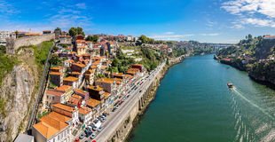 Aerial view of Porto in Portugal stock image