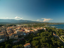 Aerial view of Porto-Vecchio old town, Corsica. France Royalty Free Stock Image