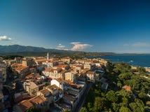 Aerial view of Porto-Vecchio old town, Corsica. France Stock Image
