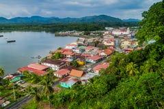 Aerial view of Portobelo village, Pana stock images