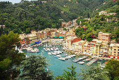 Aerial view of Portofino Royalty Free Stock Photography