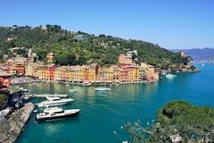 Aerial view on Portofino. Royalty Free Stock Photos