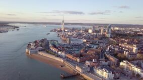 Aerial view of Portsmouth, Hampshire, Great Britain
