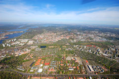 Aerial view of Potsdam Stock Photography