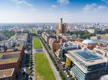Aerial view of Potsdamer Platz area and gardens in Berlin, Germa. Ny stock photos