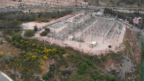 Aerial view of power station in jerusalem Israel