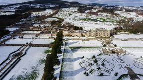 Aerial view. Powerscourt gardens. Wicklow. Ireland Royalty Free Stock Photography