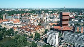 Aerial shot of Poznan cityscape, Poland Royalty Free Stock Photography