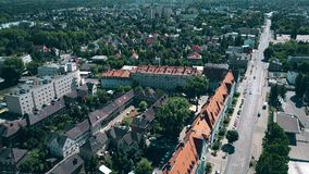 Aerial view of Poznan residential area, Poland Stock Images