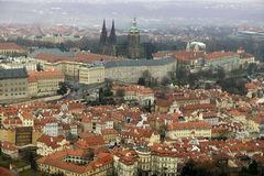 Aerial view of Praga Castle royalty free stock photography