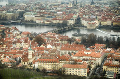 Aerial view of Praga Stock Photography