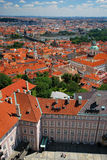 An aerial view of Prague Royalty Free Stock Photos