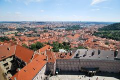 A aerial view of Prague Stock Image