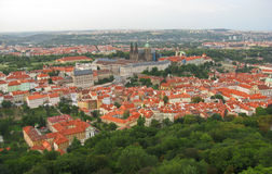 Aerial view of Prague Stock Photos