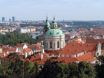 Aerial view of Prague Royalty Free Stock Images