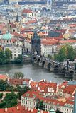 The aerial view of Prague royalty free stock images