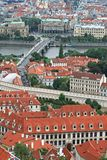 The aerial view of Prague Royalty Free Stock Photography