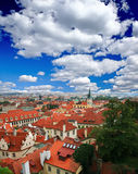 The aerial view of Prague Royalty Free Stock Photos