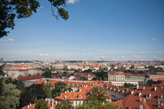 Aerial view of Prague, capital city of Czech Royalty Free Stock Photos