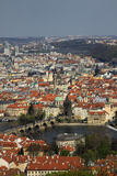 The aerial view of Prague Castle from Petrin Hill, Prague, Czech Republic Stock Photo