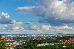 Aerial view of Prague city from stadion Strahov, Prague, Czech Republic.  Royalty Free Stock Images