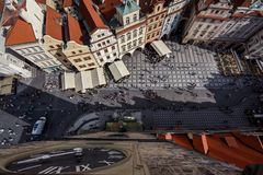 Aerial view of Prague, Czech rebublic Stock Image