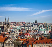 Aerial view of Prague Stock Images