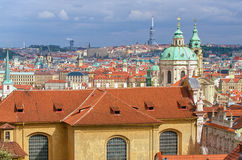Aerial view of Prague Royalty Free Stock Image