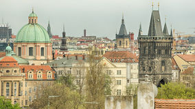 Aerial view of Prague Royalty Free Stock Photography
