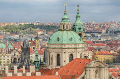 Aerial view of Prague Royalty Free Stock Photo